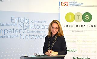 Manuela Walser beim Webinar der deutschen Handeskammer über das Thema Forschungszulage